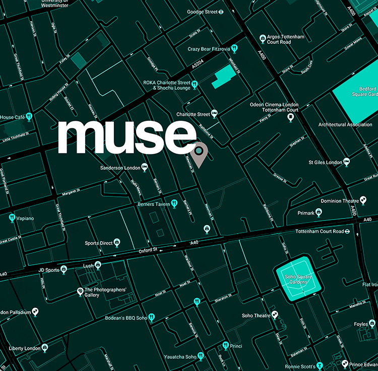 Muse Location Map